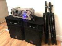 600W PA System. Wharfedale EVP-S15 Speakers & Stands.
