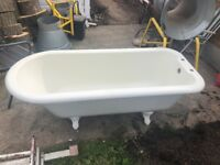 victorian style free standing bath as new