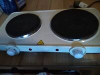 PORTABLE 2 RING ELECTRIC HOB