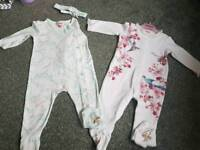Ted Baker all in ones 9-12 months