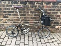 2011 Brompton S3 Raw Lacquer + Extras