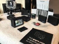 Gopro/ go pro hero 3 black edition with screen, remote control + more swap r/c stuff truck buggy car