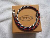 Mens Tod's Plaited Italian Leather Bracelet
