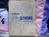 genuine Suzuki 4 stroke service data manual