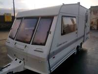 1998 BESSERCARR CAMEO 470 2 BIRTH LARGE CARAVAN WITH END BATHROOM AND TOILET LARGE
