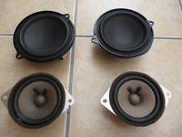 RENAULT CLIO Mk2 2001-2005 Pair of Front & Rear Door Speakers 3 door. Original