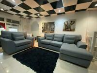 Dfs grey corner sofa with large armchair