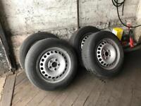 Volkswagen transporter van wheels and tyres