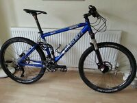 Trek Fuel 90 full suspension mountain bike.