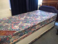 3ft single bed with storage and headboard