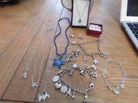 genuine Thomas sabo charm bracelet ,9ct gold earrings ,brooch,rings, etc..all hallmarked