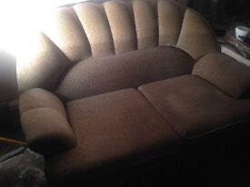Beige 2 seater and matching single arm chair