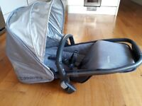 Uppababy Vista grey rumble seat with adapters