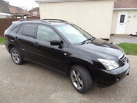 2007 RX400H LEXUS RX 400H IN BLACK TOP OF THE RANGE HYBRID AND FULLY LOADED 4X4 JEEP