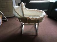 Moses Basket and Rocking Stand. Mothercare