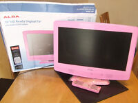 """19"""" HD TV with built in DVD player and Freeview - PINK"""