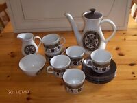 "Vintage 15 piece Coffee Set Ridgway ""Navajo"""