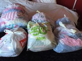 Bundles of girls clothes