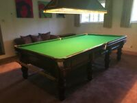 10 Foot Tulip Leg Snooker Table with Slate Bed