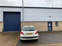 Warehouse industrial unit workshop with large modern office to let.