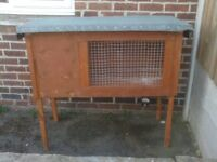RABBIT HUTCH ON LEG WITH TWO SIDE DOORS £30
