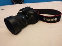 Canon 600d / T3i rebel EOS digital camera DSLR 30mm 1.4 sigma lense fully working