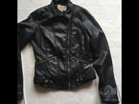 Trafaluc Zara ladies bike jacket faux leather Sz: 10 used £10