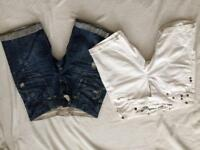 2 pairs of jean shorts size 12