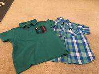 2 x boys Lyle and Scott tops age 3/4