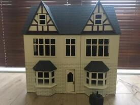 Dolls house with working lights