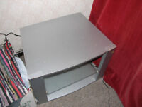 Large Grey 3 Level TV Stand