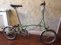 Brompton M3L folding bike as new 2011 Sage Green