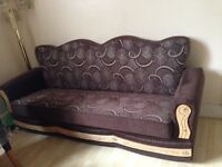 Brown sofa bed for sale only £90 save £110! 4 seater, excellent condition, storage underneath.