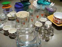 Huge crockery set. Mugs, glasses, bowls, cups, chopping board etc. + all in very good condition