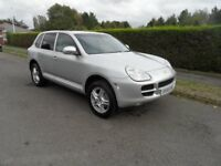 Porsche Cayenne-S 4x4 Automatic 3.2 V6 2006/55-plate, silver with black leather, good spec Sat-Nav