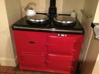 Pillar Box Red 2 Oven GAS AGA
