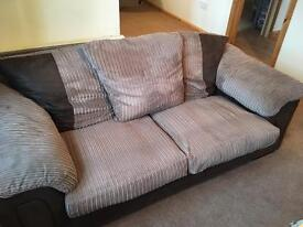 3 seater SOFA and chair/couch £40 Ono needs gone Monday