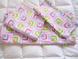 Kind size pink cotton bed linen set