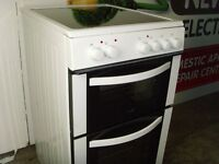 New Logik 50cm Cooker Ceramic Top Full Years Warranty, Delivery and Install Available