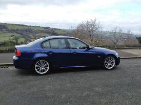 BMW E90 325D 325 D 3.0 L Diesel M Sport Manual 2006 (56) Le Mans Blue Like 330D