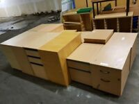2 & 3 Drawer Wood Filing Cabinets