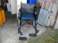 WHEEL CHAIR IN VERY GOOD CONDITION AND ONLY BEEN USED THREE TIMES AND BEEN STORE FIVE YEARS