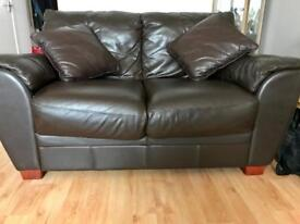2 seater and 3 seater leatherette sofas