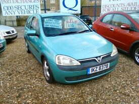 2002 Vauxhall corsa 1.2 petrol on a private plate ideal first car