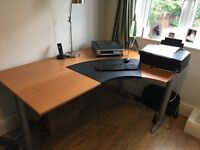 Corner desk free to a good home - collection lymm today