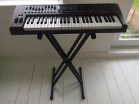 Novation Impulse49 Midi controller keyboard and stagg stand - mint.