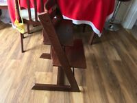 Solid mahogany Tripp Trapp high chair, smoke and pet free home