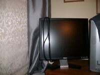 Dell 19 inch Monitor Screen + Keyboard etc