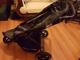 Phil and teds sport push chair + raincover
