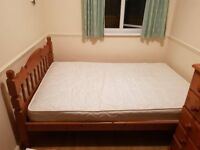 Small Double Pine Bed